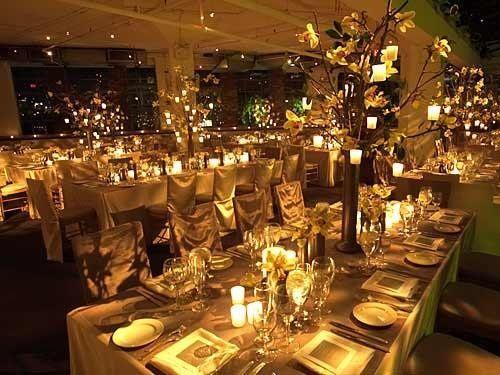 Candle-lit reception