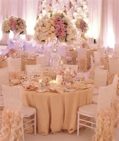 Romantic reception set-up
