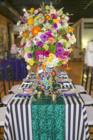 Colorful large flower arrangement