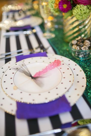 Purple and white theme
