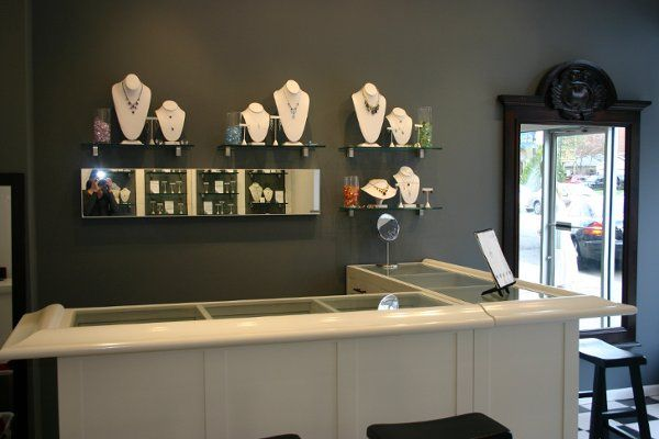gem bar. customers can choose the exact stone they want us to use in their necklace, earrings,...