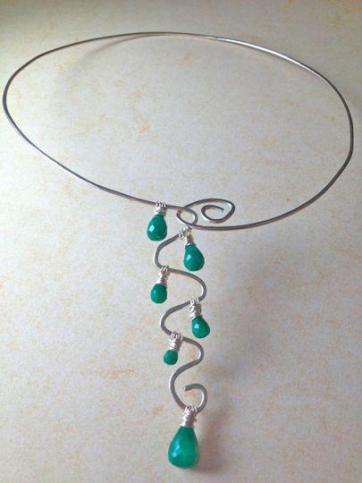 emerald wave necklac