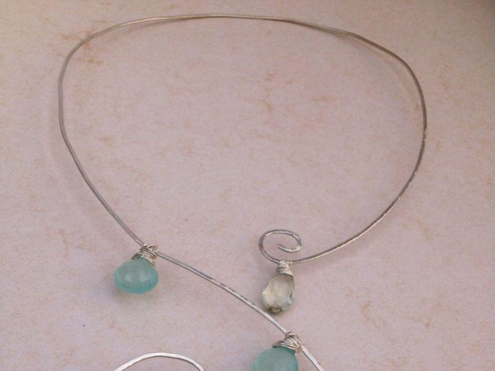 Tmx 1391027436021 Chalcedony Green Amethyst Spiral Necklac Asheville wedding jewelry