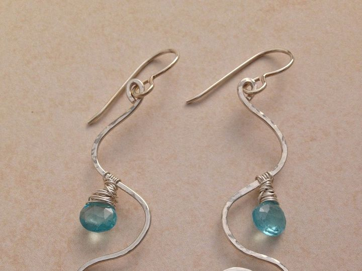 Tmx 1391027458332 Chalcedony Apatite Wave Spiral Earring Asheville wedding jewelry