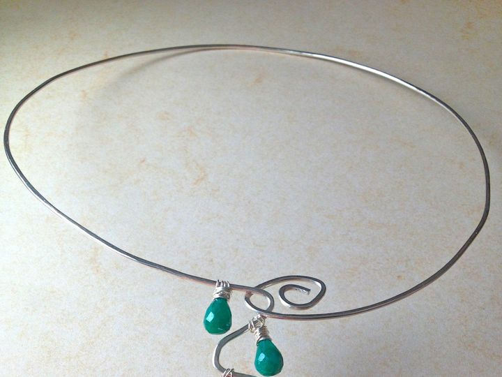 Tmx 1391027479419 Emerald Wave Necklac Asheville wedding jewelry
