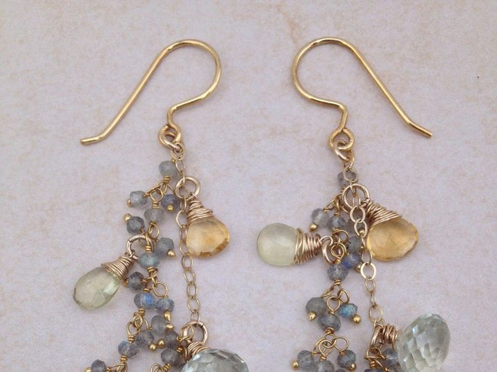 Tmx 1391027502994 Labradorite Citrine Green Amethyst Cluster Earring Asheville wedding jewelry
