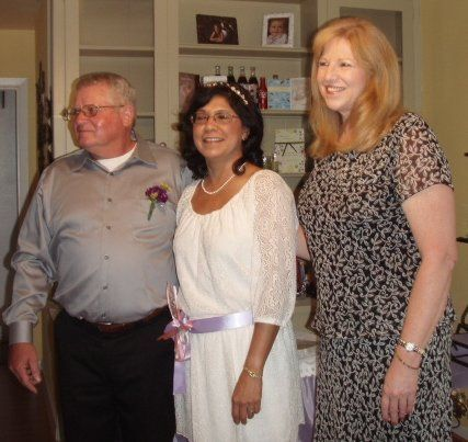 Officiant with the parents