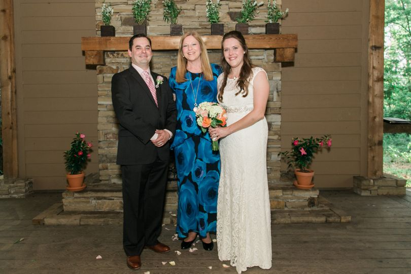 Photo op with the bride and groom