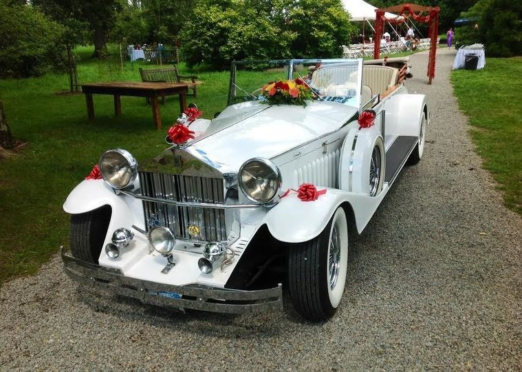 Vintage white car