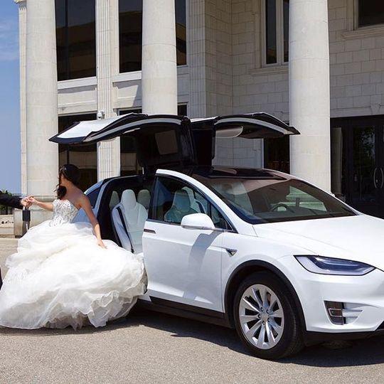 Modern bridal car