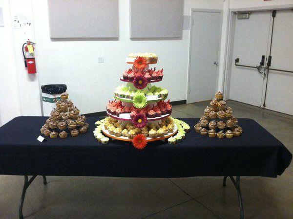 250 cupcakes display