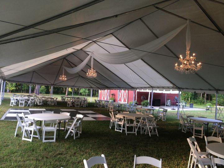 Tent chandeliers