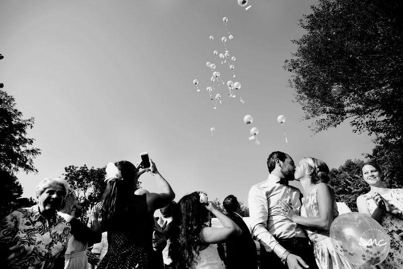 Balloon Release. Wedding in Heidelberg, Germany.