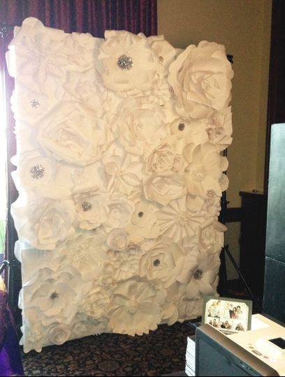 flower wall setup