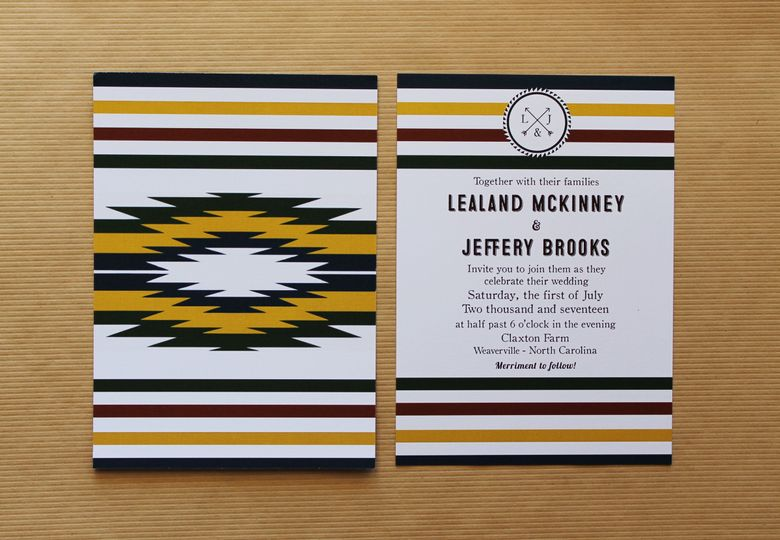 camp invitation front and back