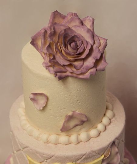 Hand made sugar rose