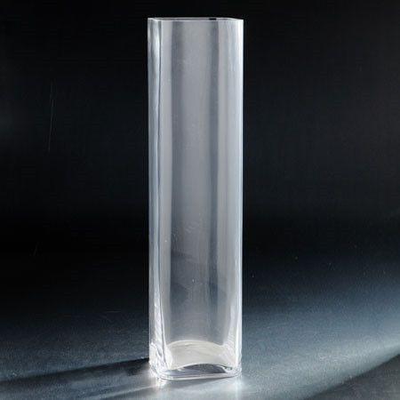 Glass squared vase 5x5x20