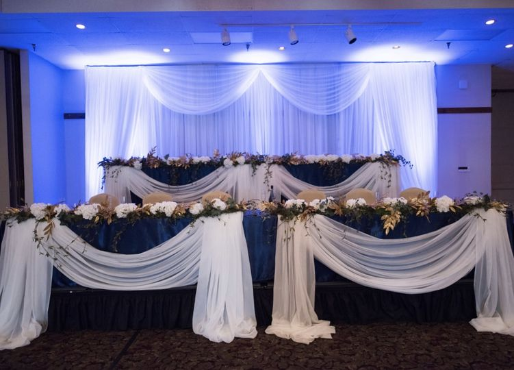 Head tables and backdrop