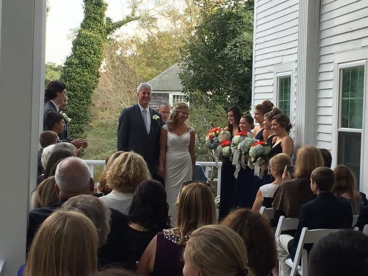 Ceremony on the Savannah deck for 60 guest
