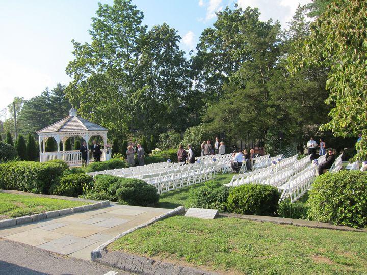 Outdoor wedding space