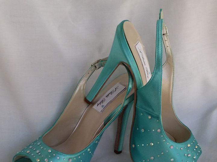 Tmx 1452306653410 Tiffany Blue Slingbacks With Crystals Palm Harbor wedding dress