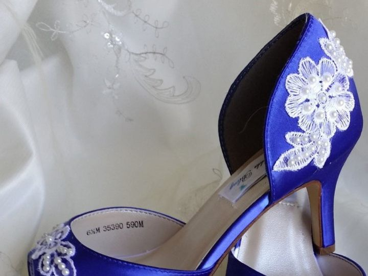 Tmx 1452306684959 Blue Wedding Shoes With Lace Palm Harbor wedding dress