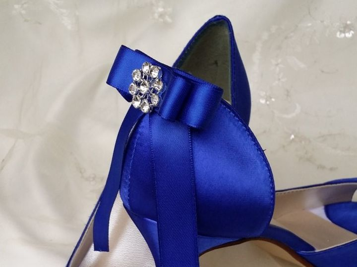 Tmx 1452306724065 Blue Bridal Shoes With Sating Bow And Crystal Broo Palm Harbor wedding dress