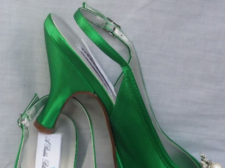 Tmx 1452306806640 Emerald Green Slingback With Cascading Crystal And Palm Harbor wedding dress