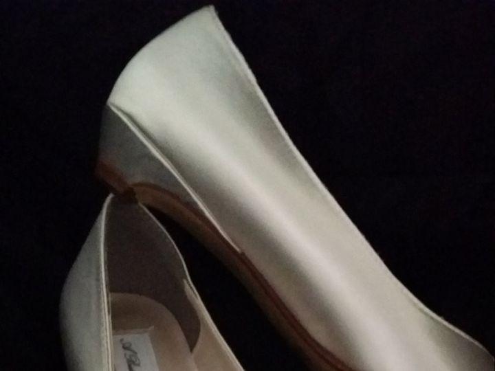 Tmx 1452306918850 Closed Toe Kitten Heel Wedding Shoe With Cascading Palm Harbor wedding dress