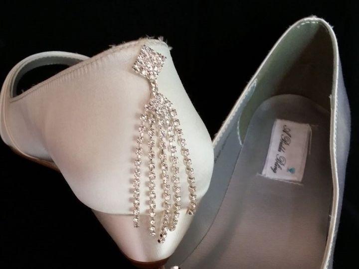 Tmx 1452307002541 Ivory Wedding Wedge With Large Rhinestone Brooch Palm Harbor wedding dress