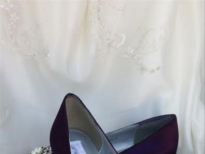 Tmx 1452307142344 Purple Wedge Wedding Shoes With Crystal And Pearl  Palm Harbor wedding dress