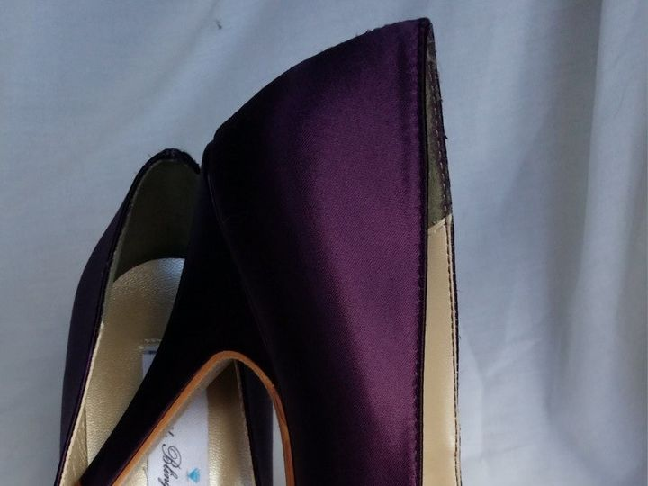 Tmx 1452307157248 Eggplant Purple Closed Toe Wedding Shoes With Vint Palm Harbor wedding dress