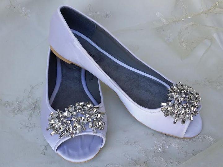Tmx 1452307417169 Satin Peep Toe Ballet Flat With Crystal Brooch Des Palm Harbor wedding dress