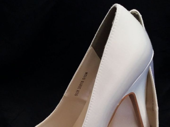 Tmx 1452307519512 Ivory Wedding Shoes With Closed Toe And Crystal Fl Palm Harbor wedding dress