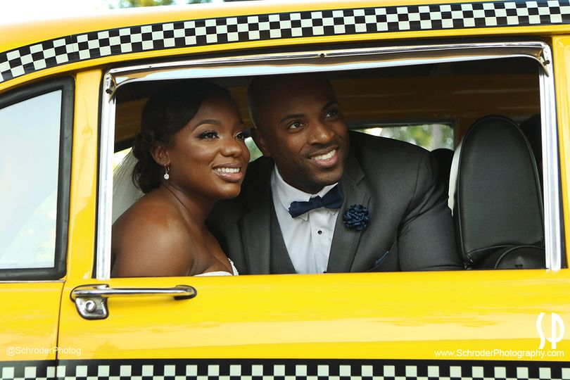 Taxi ride from ceremony