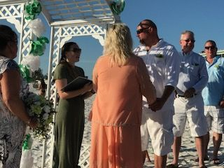 St.Patty's day wedding on the beach! Couldnt have asked for a more beautifu Day!!