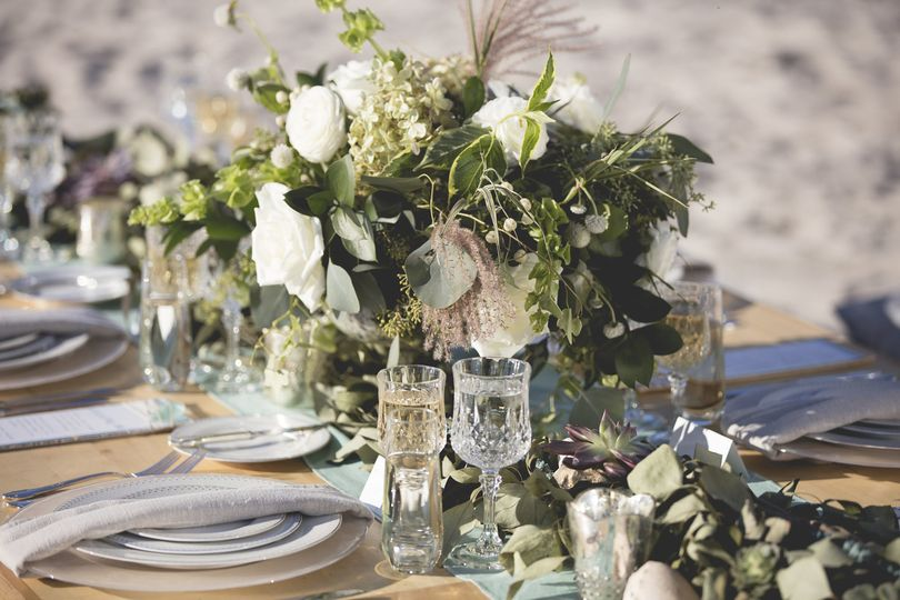 Textured Bohemian Florals for Rehearsal Dinner