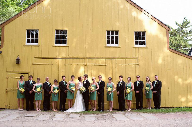 Yellow barn photo