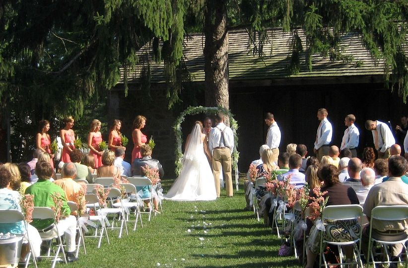 Ceremony in courtyard