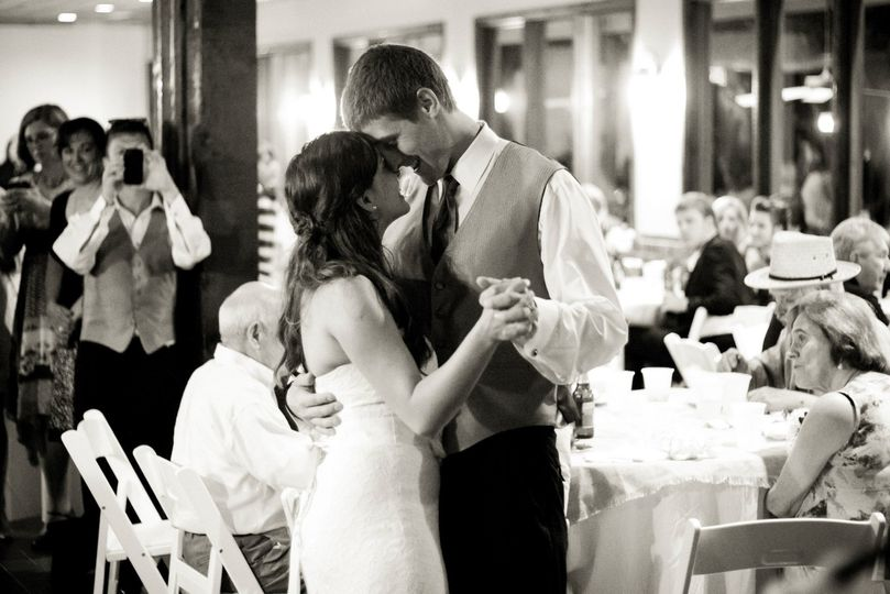 Couple dancing in Event Center