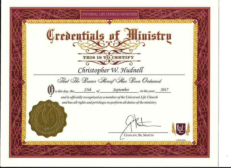 Certificate to Officiate