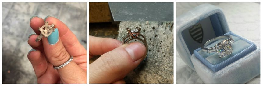 Some of the journey a ring takes when being created :)