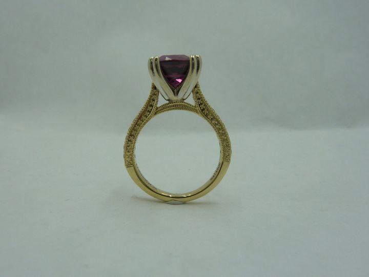 Split prong, unique engagement ring