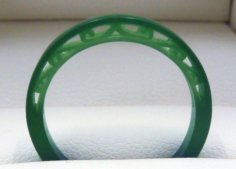 Wax model of the custom wedding band. Look at the beautiful filigree design