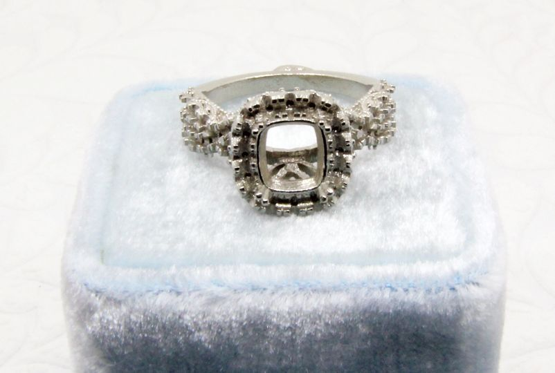 Raw casting, hand made engagement ring