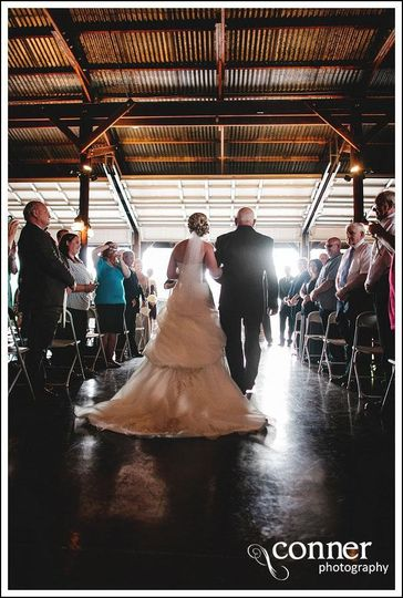 Party barn ceremony