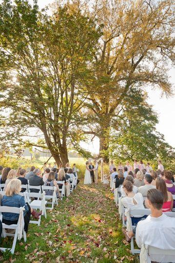 Ceremony in back field