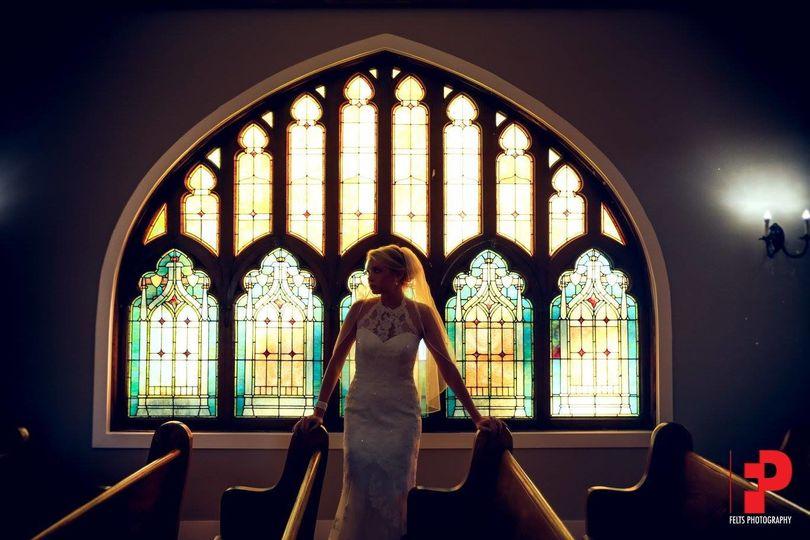 Bride in the chapel