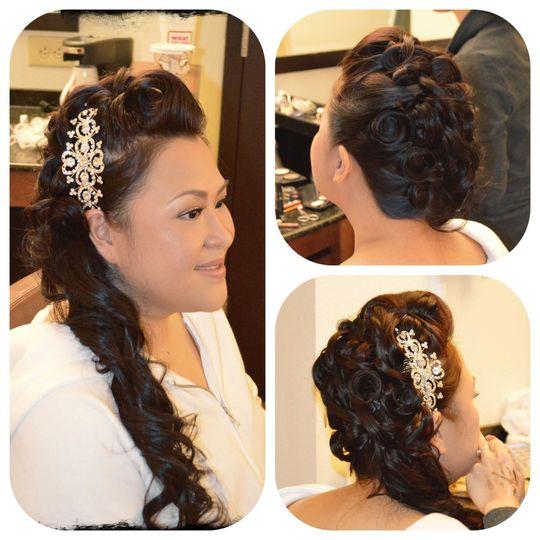 Side braid for the wedding