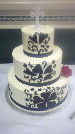 black and white damask
